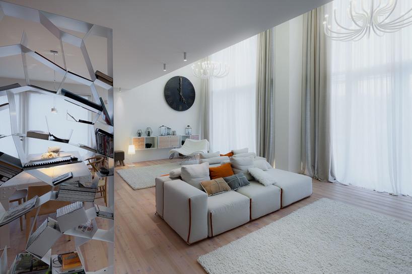 sviesus gyvenamasis kambarys